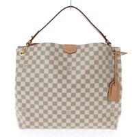 Auth LOUIS VUITTON Graceful MM N42233 Azur Damier RI2240 Womens Shoulder Bag