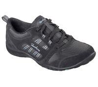 NEU SKECHERS Damen Sneakers Turnschuh Memory Foam BREATHE-EASY - GOOD LUCK Grau