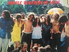 Vintage Poster People Together Is Love Peace Hippie Gathering 1970's Pin-up 70's