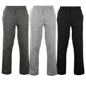 Womens Joggers Tracksuit Bottoms Open Hem Fleece Ladies Trousers Jogging Pants