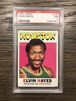 1971 Topps Basketball Elvin Hayes #120 PSA 7 NM Rockets' Center