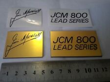 Marshall JCM 800 LEAD SERIES lot 2ps logo plastic gold color + 2ps decal