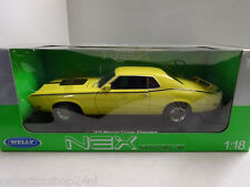 Welly : Mercury Cougar Eliminator, light yellow/matt-black, 1970, 1:18 , New