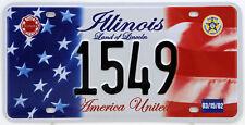 Plaque d'immatriculation américaine ILLINOIS Land of Lincoln