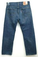 Levis Mens 505 0951 Dark Blue Regular Fit Straight Leg Denim Jeans Size 32 x 30