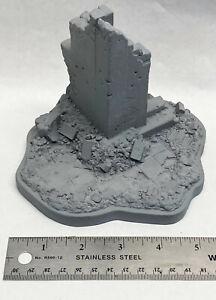 1/16 120mm VERLINDEN Building Corner Ruin WWII Vignette / Diorama Base WWII 557