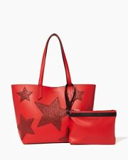 Kendall + Kylie Paparazzi Star Tote - Red/Red Holiday Handbag w/ Purse Pouch