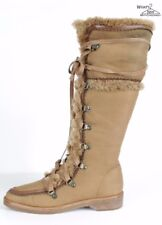 Cole Haan Shearling Lined Over The Calf Boots Sz. 7.5 B