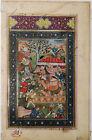 Exquisite Indian Antique Mughal School Gouache watercolour Miniature RARE 19thc