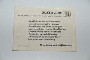 Märklin H0 Original Beschreibung für den Anschluß einer elektrischen Bahn TOP