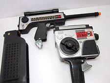 VINTAGE 1965 MATTEL AGENT ZERO RADIO RIFLE & MOVIE SHOT 1960'S SPY TOY PARTS LOT
