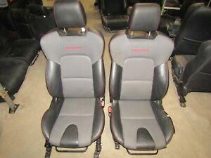 2007-2009 Mazdaspeed3 Front Bucket Seat Set Black Cloth/leather MS3