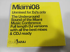 AZULI MIAMI08 UNMIXED FOR DJ´S ONLY 2 X CD CUBIERTA CARTON 2008 NEW SEALED NUEVO