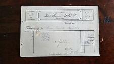 Alte Rechnung 1927 aus Feldkirch, Gartenbaubetrieb Fidel Summer   (C21)