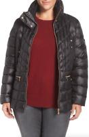 Bernardo Black Packable Jacket With Down & Primaloft Fill Size 1X 1033