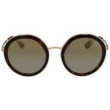 Prada Round Brown Mirror Gold Gradient Sunglasses