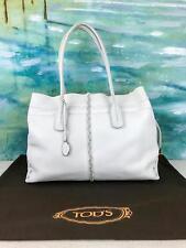 $1150 TOD'S D-Bag Media White Leather Tote Drawstring Women's Handbag Purse SALE