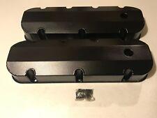 PRW Fabricated Aluminum Valve Covers  Big Block Chevy 396-502 Satin Black