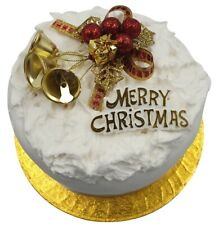 Cake Decoration Set Gold Holly & Bells With MERRY CHRISTMAS Sign