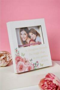 BOX PHOTO FRAME FOR DAUGHTER WITH SENTIMENT VERSE FLORAL BUTTERFLY LOVELY GIFT