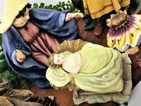 Grandeur Noel MARY Nativity Christmas FigurineSet Rare Collector's Edition 2002