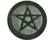 """Soapstone Pentacle Altar Tile 6"""" Diameter AT821"""