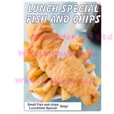 fish and chip shop vinyl Laminated sticker cafe  bar takeaway Chip Shop Sign