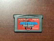 Game Boy Advance Metroid Zero Mission Japan GBA Game US Seller