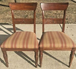 Ethan Allen British Classics Dining Side Chairs Maple #29-640 #260 Cinnabar