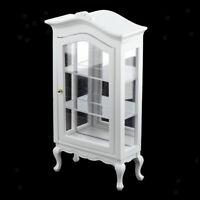 1:12 Dollhouse Handmade Miniatures Wooden Display Shelf Cabinet Model DIY Toys