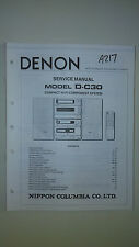 Denon d-c30 service manual original repair book stereo tuner radio hi fi system