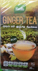 Ceylon Organic Herbal Nutritious Pure Ginger Tea Bags (BOPF)Sri Lankan Tea Keels