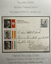 1938 Plencia Spain Civil War Nationalist Postcard Cover To Seville The Axis