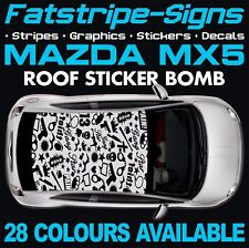 MAZDA MX5 ROOF STICKER BOMB GRAPHICS STICKERS DECALS CAR VINYL ROADSTER 1.6 1.8