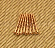 GS-0011-002 (8) Gold Pickup Mounting Screws For Fender p & Jazz Bass or Similar