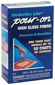 Environmental ETI02016 EnviroTex Lite Pour-On High Gloss Finish 16 Oz.
