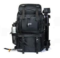 """Large 40L Waterproof DSLR Camera Backpack Rucksack 17"""" Laptop Bag Shoulder Bag"""