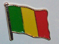 Mali Country Flag Enamel Pin Badge