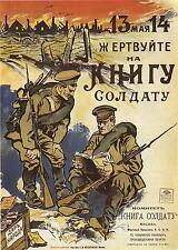 Russian World War 1 Poster Soldiers Reading Book Trenches 11x8 Inch Reprint