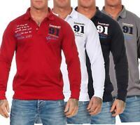 Herren Polo Shirt Langarm Longsleeve, Baumwolle, M L XL XXL