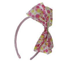 Polka Dot Ribbon Hairband Headband Satin Wrapped Multi Color