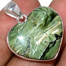 Heart - Imperial Opal - Tanzania 925 Sterling Silver Pendant Jewelry AP196871