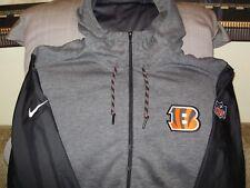 618f2e3ef Cincinnati Bengals Nike Mens Travel Full Zip Hoodie Jacket 837608 Large