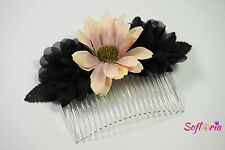 Choose your color! Floral Hair Comb Wedding Prom Parties