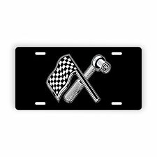 """Racing Flag and Wrench Novelty Car Truck Auto License Plate 6"""" x 12"""""""