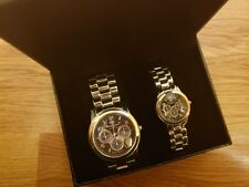 Mark Naimer His & Hers matching QUARTZ Watch Set Water Resistant New no Tags