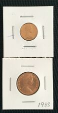 1983 1 cent and 2 cent coin Ex mint set in 2 x 2