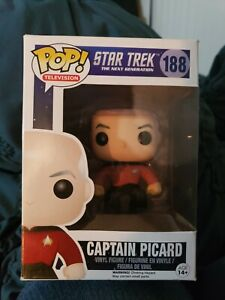 Funko Pop Of Star Trek The next Generation Captain Picard Series N° 188