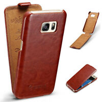Slim Vertical Flip Leather Case Cover for Samsung Galaxy S7 Edge S9 S8+ Note 8