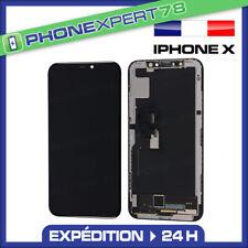 ECRAN LCD RETINA VITRE TACTILE ASSEMBLÉ SUR CHASSIS POUR IPHONE X/10 NOIR